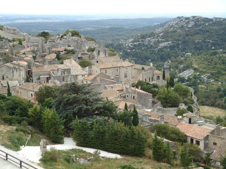 View of the Alpilles from Les Baux de Provence