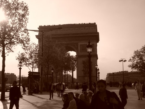 L'Arc de Triomphe, at the top of the Champs Elysees in Paris