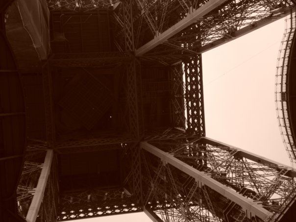 Standing underneath the most beautiful tower in the world...