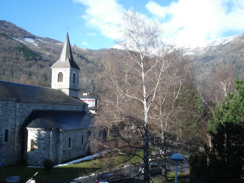 The little medieval church in Saint-Lary from my hotel room!