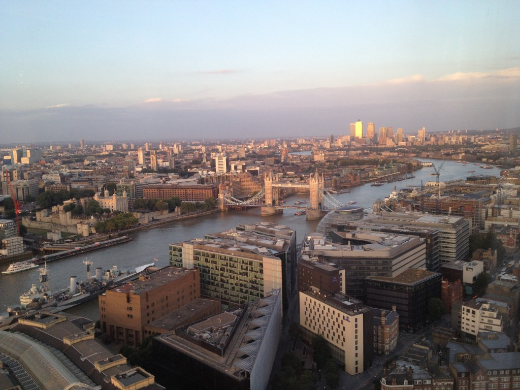 Enjoying Amazing views of Tower Bridge and Shad Thames from the Shard