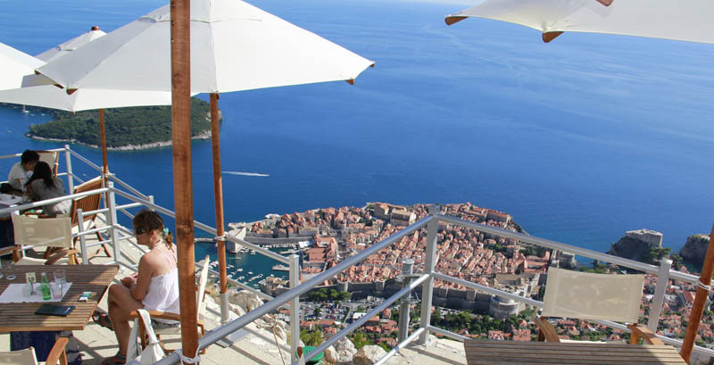 Panorama at the Dubrovnik cable car