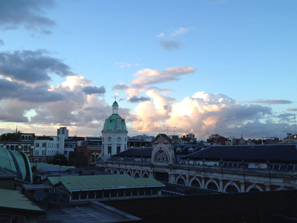 Beautiful views of Smithfield market from the rooftop